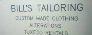 Bill's Tailor Shop