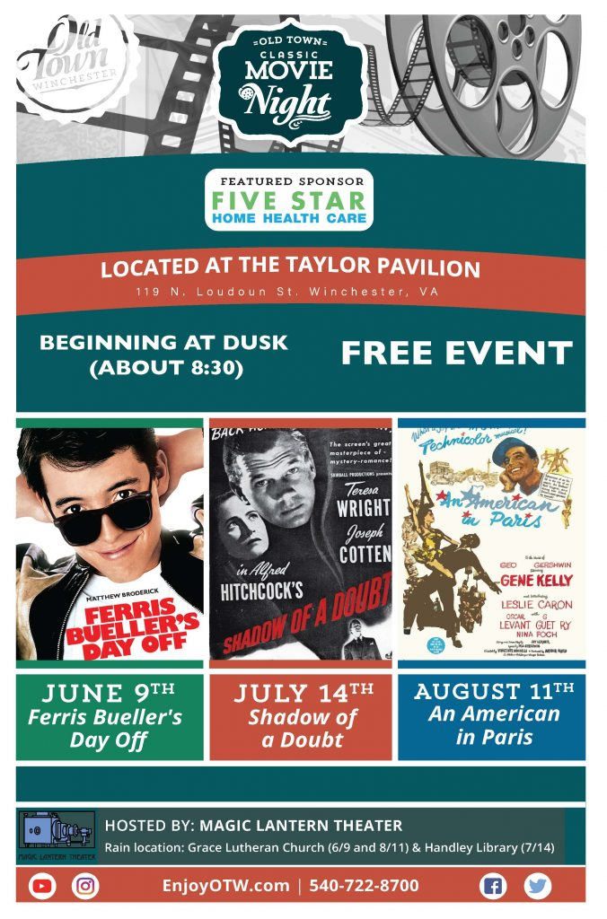 classic movies at the taylor pavilion old town winchester