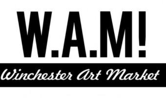 WAM logo Winchester Art Market framed window