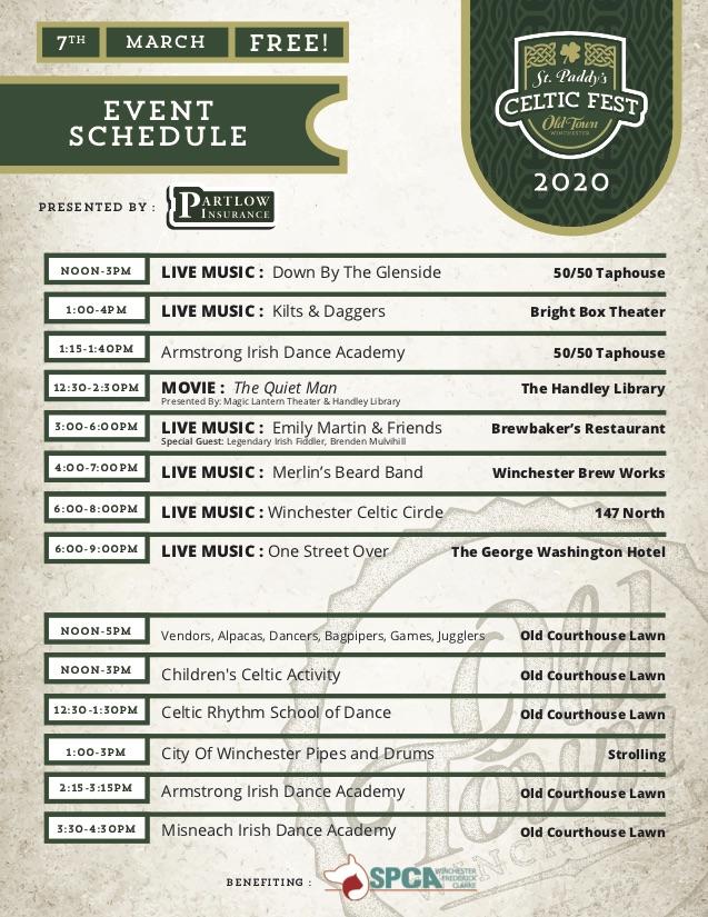 Celtic fest schedule 2020 final edit