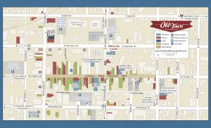 Maps & Parking | Old Town Winchester Downtown Map on