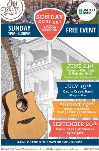 OTW Taylor Pavilion Concerts Poster